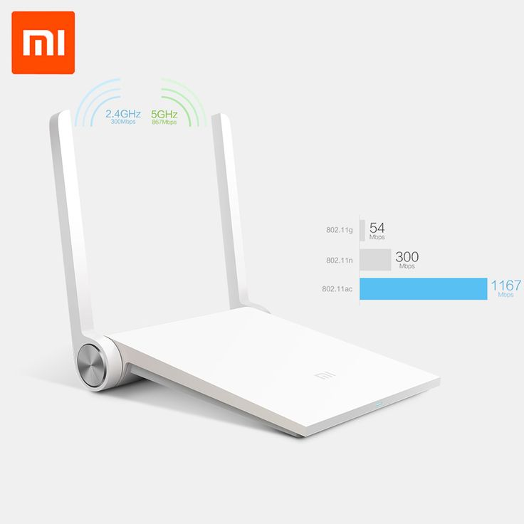 Original Xiaomi Router Mi Smart Wifi Router Dual-band 2.4GHz/5GHz 1167Mbps Wi-Fi 802.11ac Support iOS/Android APP with USB Port Отличный роутер