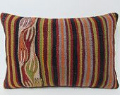 kilim pillow orient 16x24 red decorative pillow traditional throw pillow kilim pillow turkish throw pillow case boho tapestry red rug 28666