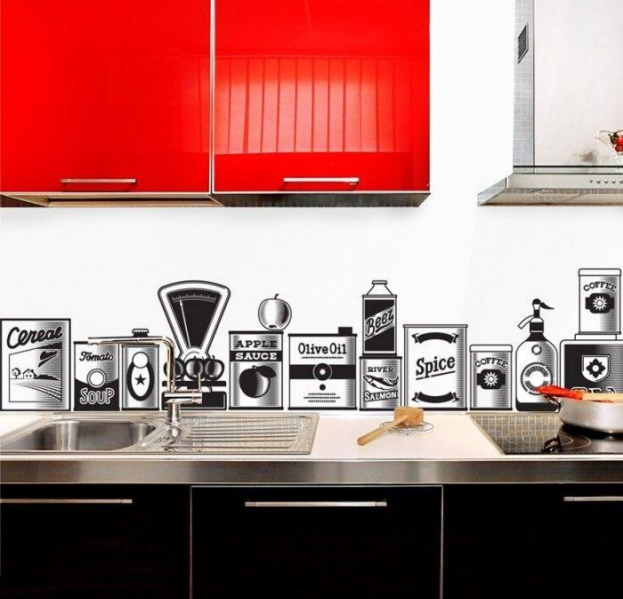 fascinating kitchen cabinet backsplash red | 50 Kitchen Backsplash Ideas | Backsplashes | Stylish ...