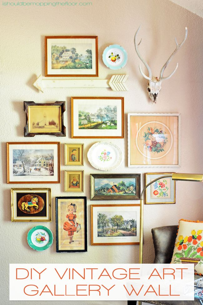 DIY Vintage Art Gallery Wall