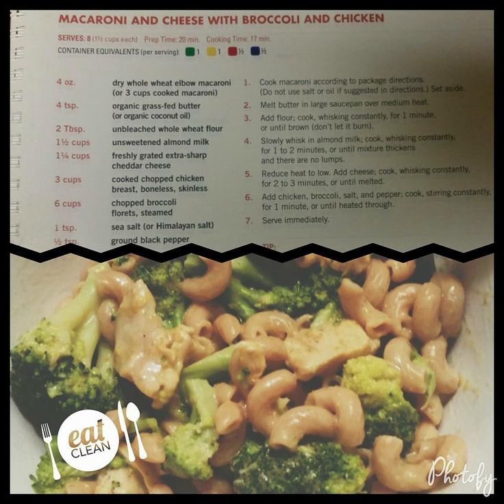 Fixate Mac and cheese with broccoli leave out chicken for vegetarian meal