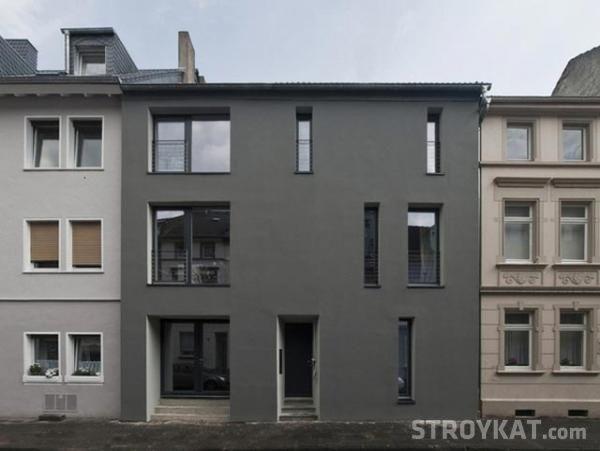 Оформление фасада: темная отделка - Строительство дома - Наружные работы