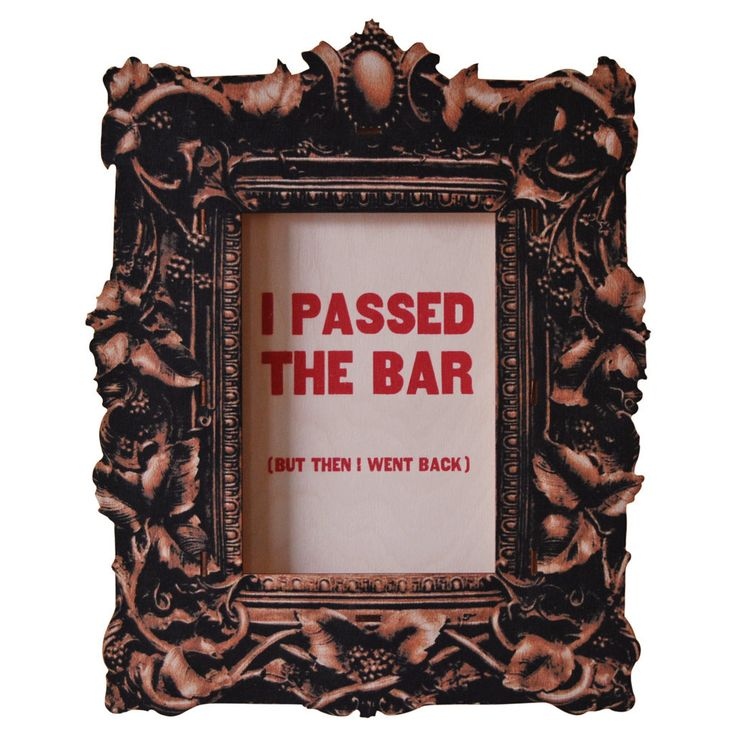 Passed Bar. Fun wood wall art from Paul Ocepek with a cool 3D pop out effect.