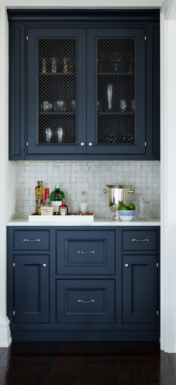 Wet Bar Idea Caged Uppers And Dark Colour More