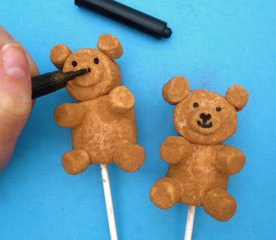 Lindsay Ann Bakes: Graduation Teddy Bear Marshmallow Pops