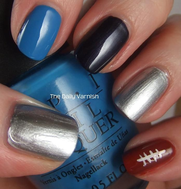 Carolina Panthers Manicure 2