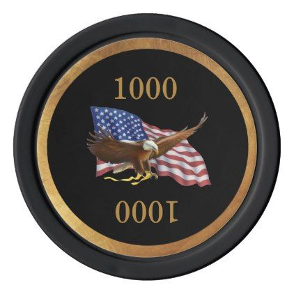 American Flag and Eagle Poker Chips - home gifts ideas decor special unique custom individual customized individualized