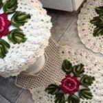 manualidades a crochet para el baño