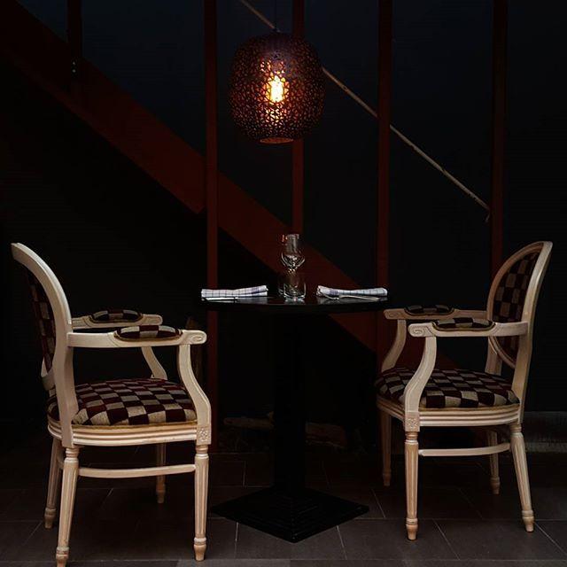 Restaurant Table for two under Orissa luminaire - by Rydéns - Restaurant Sinne Helsinki - #sessaklighting #sessak #orissa #byrydens #byrydéns #luminaire #lamp#lamppu #hanginlamp#ravintolasinne #Sinne #sinnehelsinki #visithelsinki #ig_finland #sisustus #inredning #restaurant #etuovisisustus #styleroom_fi #scandinaviandesign #interior4all #tablefortwo #interiordesign #interiorinspiration#Restaurant