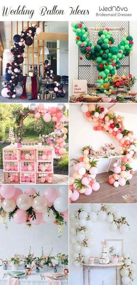 Trendy Wedding Cakes Table Balloons 68 Ideas