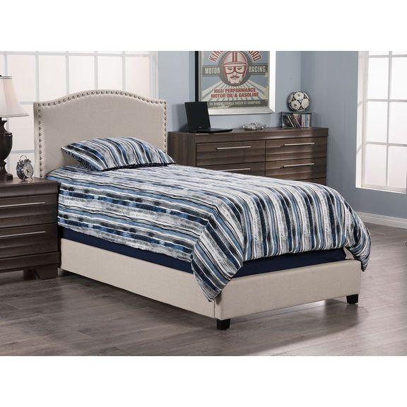 Bedroom Furniture - Benjamin Queen Bed - Linen Stone