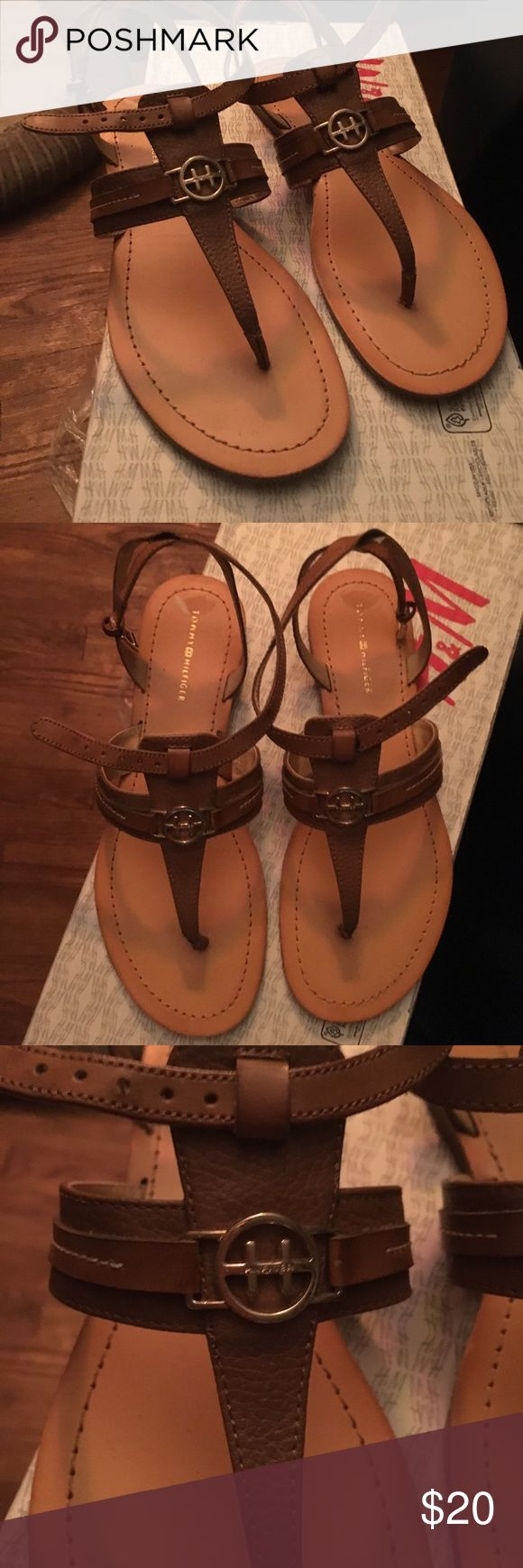 Tommy Hilfiger sandals  size 7.5 worn once‼️〽️ Sandals for sale Tommy Hilfiger Shoes Sandals