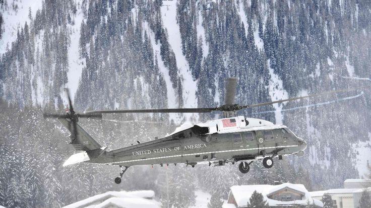 Der Marine-Helicopter mit Donald Trump in Davos