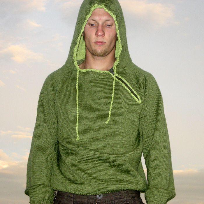 Gratis strikkeoppskrift på herregenser, Gangstergenseren