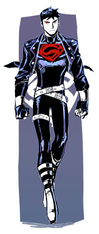 Superboy is not aware that you in fact only need one belt. He feels the need to wear 2. ... And one on his leg.