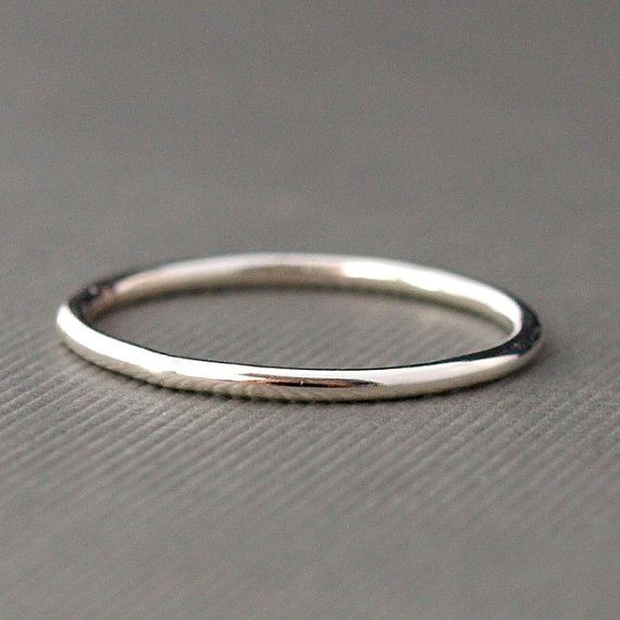 Plain Sterling Silver Ring  Plain Sterling Silver Band by CatherineMarissa on Etsy