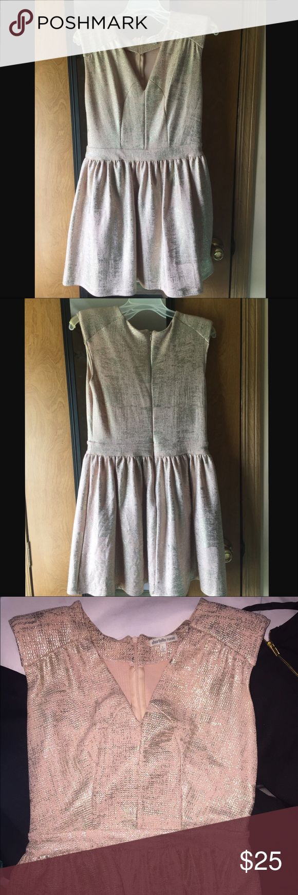 Charlotte Russe dress Only been worn once for a couple of hours.. goldish/pinkish dress Charlotte Russe Dresses Midi