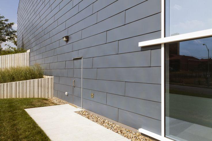 Zinc Metal Panels : Samuel u rodgers health center has a zinc door made with