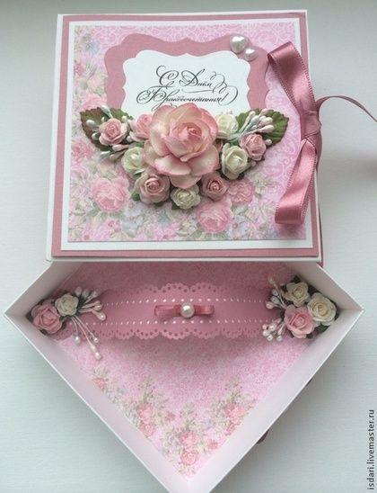 Купить Коробочка для денег розовая - коробочка для денег, для денежного подарка, для денег, подарок на свадьбу, для молодоженов
