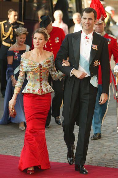 Princess Letizia and Prince Felipe of Spain