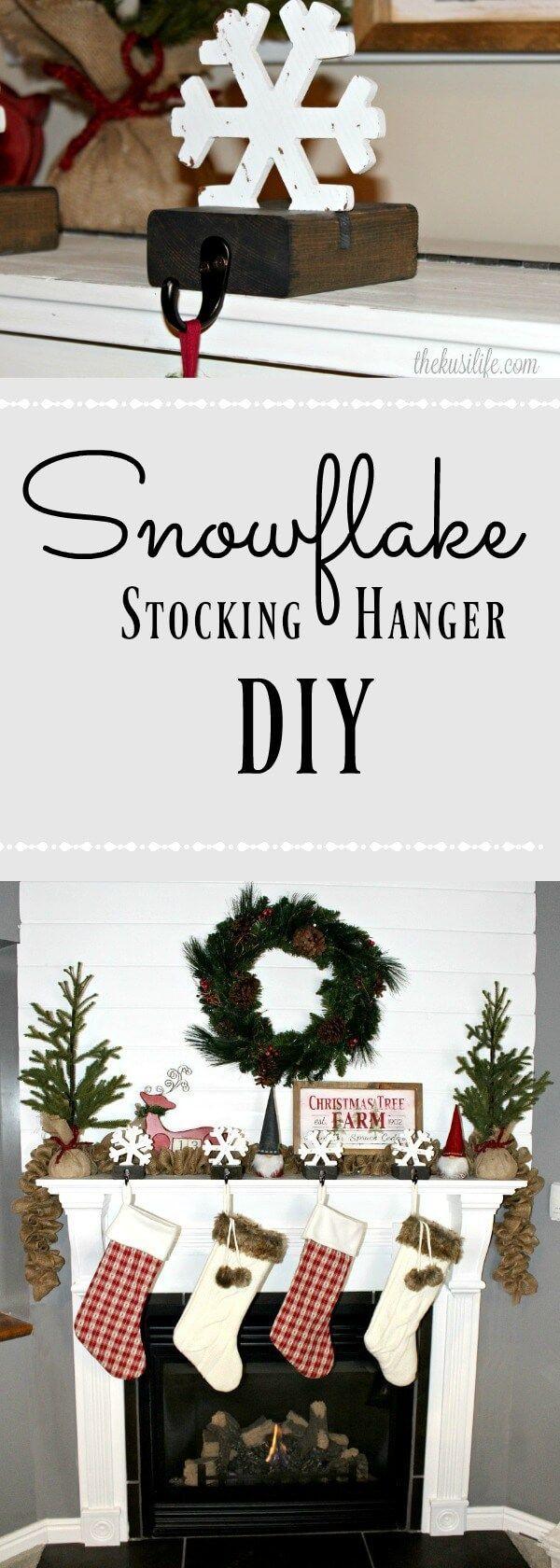 Snowflake Stocking Hanger-DIY via @thekusilife