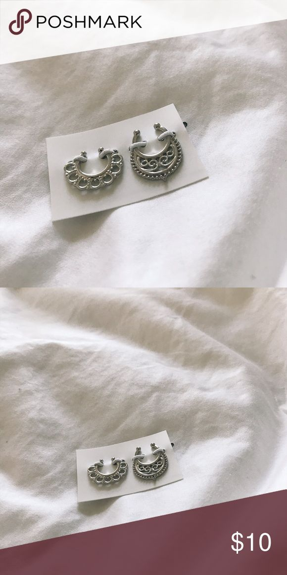 Fake Septum Nose Ring (set of 2) Color: silver  Set of 2  Brand NEW   Boho style fake Septum Nose rings Jewelry