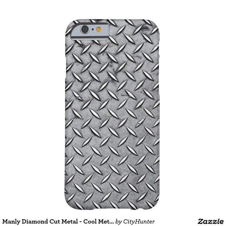 Manly Diamond Cut Metal - Cool Metallic Plate Look Barely There iPhone 6 Case  15% Off All Orders | UP TO 60% OFF Gifts for Him - Don't Forget Dad!     Ends Thursday     Use Code: ZGREATESTDAD