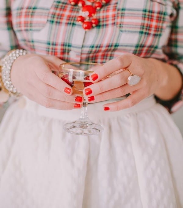 Plaid + Party Skirt