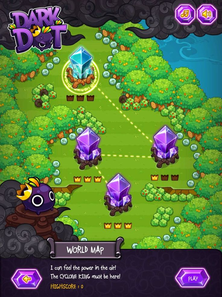 Dark Dot Game Interfaceinterface Designgame