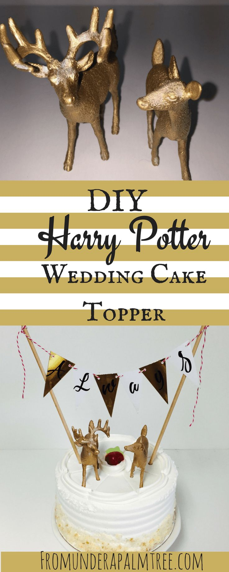 DIY Harry Potter Wedding Cake Topper by From Under a Palm Tree