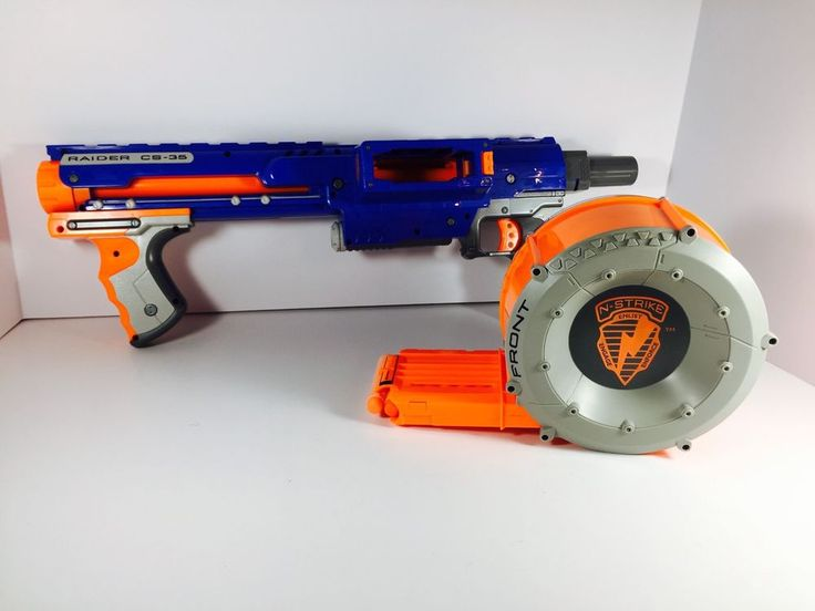 NERF Raider Rapid Fire CS-35 Blaster Gun W/ Ammo Drum With 28 NERF Darts Tested  | eBay
