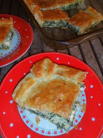Pastel de espinacas y queso feta