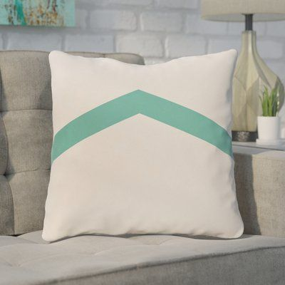 "Mercury Row Down Throw Pillow Size: 26"" H x 26"" W, Color: Jade"