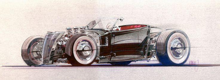 Mike Miernik Design - Hot Rod Art - Automotive Illustration & Design