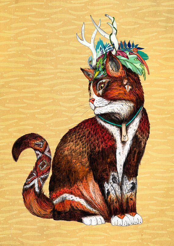 Magus Wizard Cat  // A4 Print by SandraDieckmann on Etsy