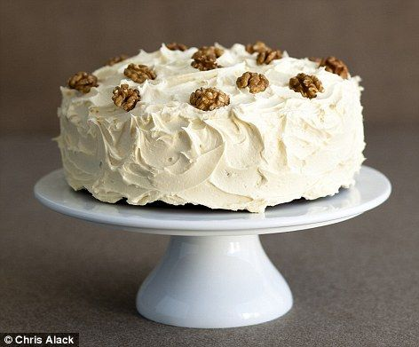 Old-fashioned date and walnut cake
