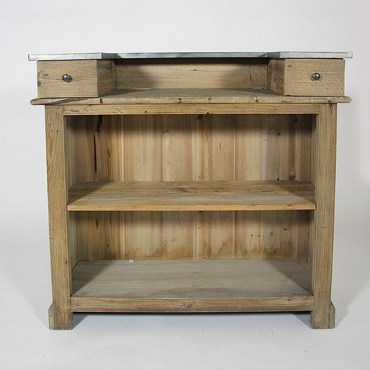 meuble bar pour cuisine meuble comptoir bar 180cm pin u0026 zinc meuble comptoir cuisine. Black Bedroom Furniture Sets. Home Design Ideas