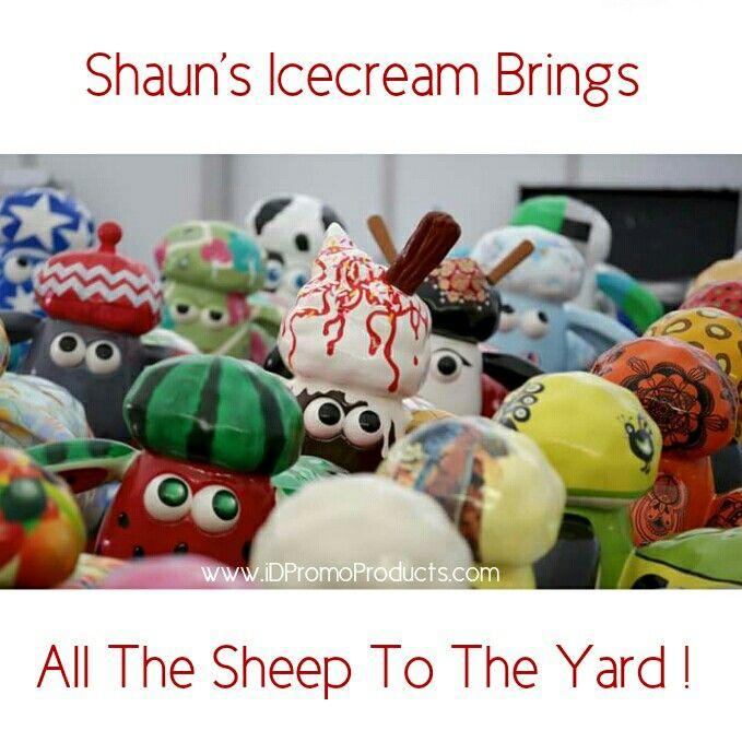 Shaun's Icecream Brings All The Sheep To The Yard !