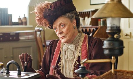 The inimitable Dame Maggie Smith as Violet, Dowager Countess of Grantham.