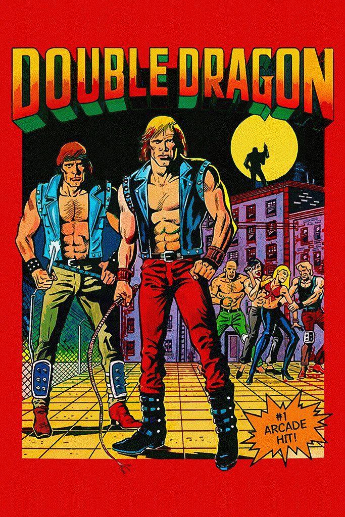 Double Dragon Copy Old Classic Retro Game Poster Retro Games
