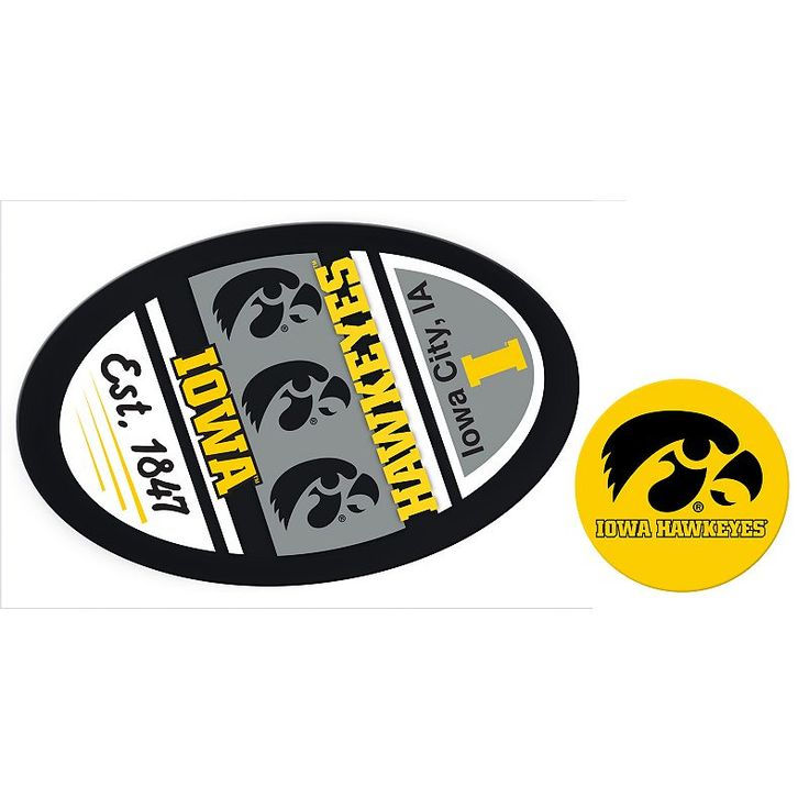Iowa Hawkeyes Game Day Decal Set, Multicolor