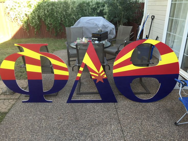 Phi Delta Theta wooden letters #greekletters #paint #woodletters #fraternity…