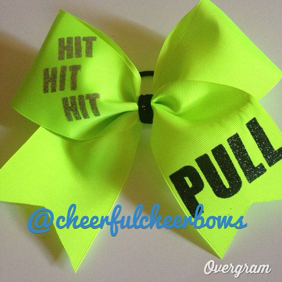 Neon Cheer Bow on Etsy, $13.00