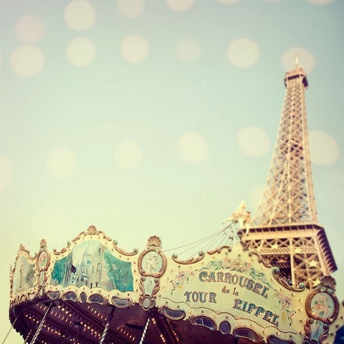French vintage carousel