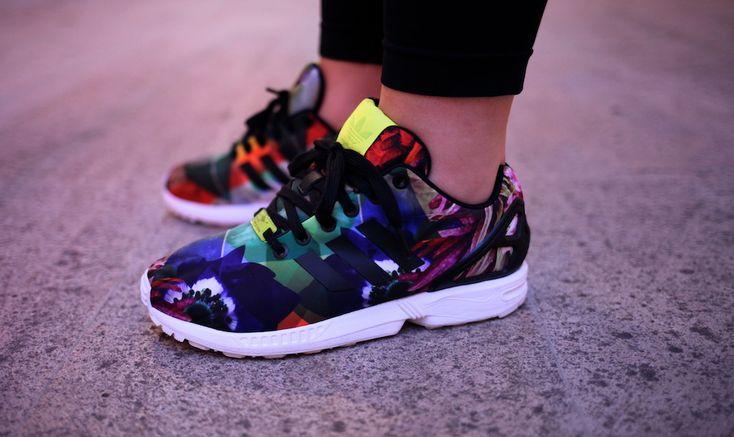 adidas zx flux barcelona floral uglymely