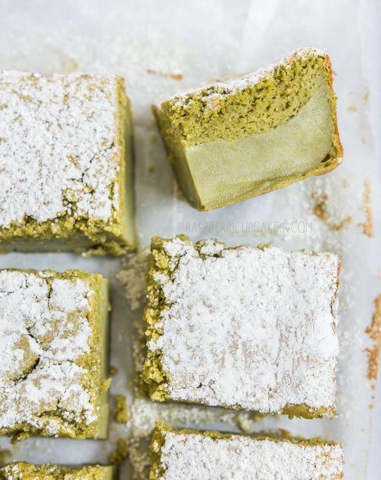 Gâteau magique au thé vert - Matcha Custard Cake