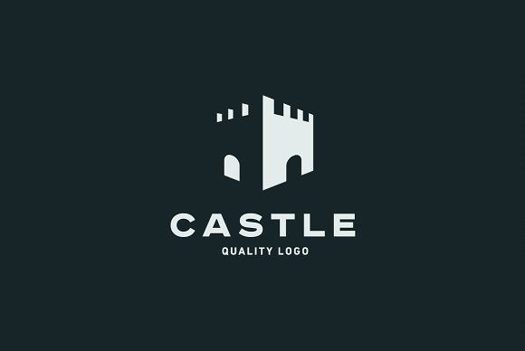 Castle by LogoCreator on @creativemarket #castle #fort #fortress #wall #arch #moat #shelter #security #vintage #quality #logo #brand #style #Classics #Modern