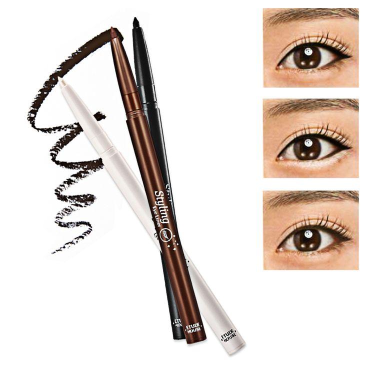 ETUDE HOUSE STYLING EYE LINER. Promo: 3,24 €                                         Avec cet eyeliner 'Styling eye liner' d'Etude House, il vous sera facile de réaliser un trait d'eyeliner.  Même les débutantes parviendront à maîtriser la technique de l'eyeliner en un clin d'œil, son embout vous laisse entrer dans les coins des yeux facilement.