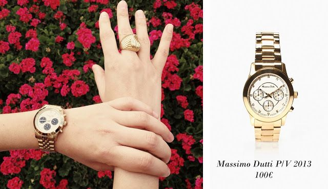 Relojes dorados, golden watches, Massimo Dutti