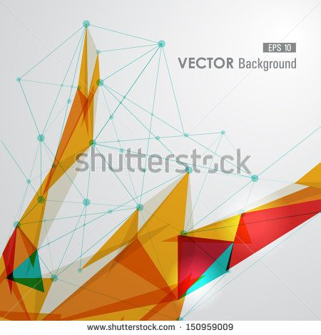 Modern colorful network transparent triangles abstract background illustration. EPS10 vector with transparency organized in layers for easy editing.